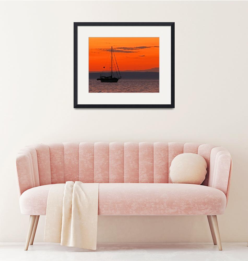 """""""Sailboat at Sunset""""  (2012) by almarphotography"""