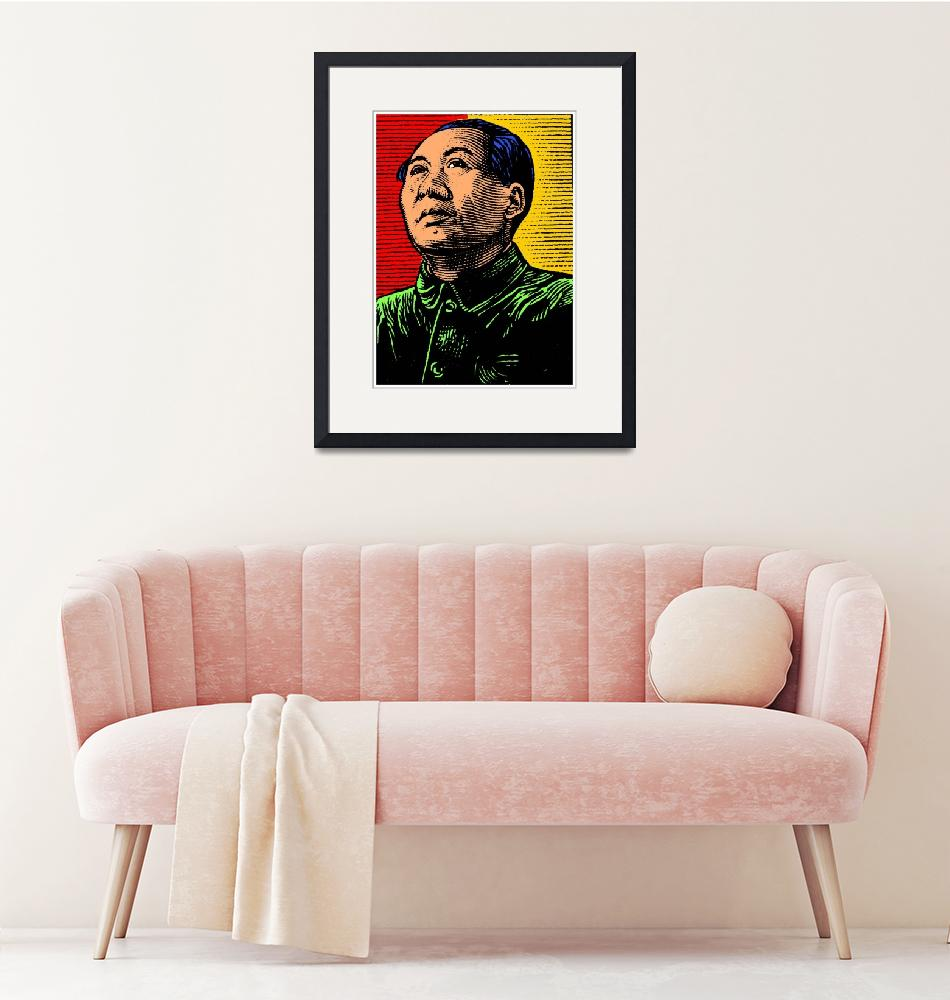 """""""Mao Zedong (Colour)""""  (2016) by thegriffinpassant"""