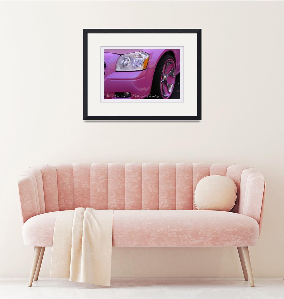 """Closer Look of a Pink Dodge""  by barbee"