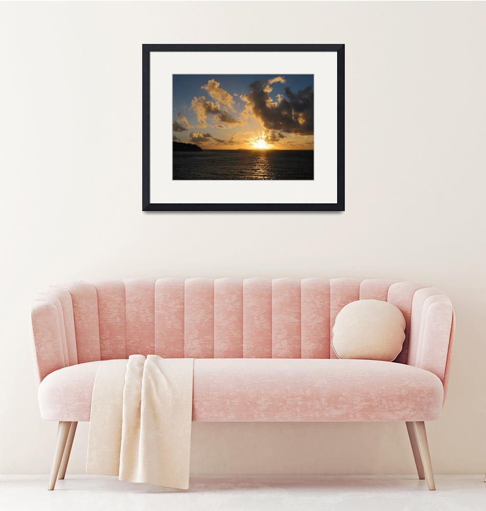 """Sunrise With Clouds St. Martin""  by susansartgallery"