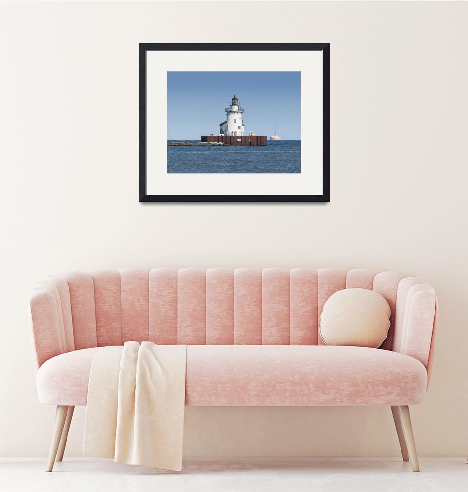 """""""Cleveland Harbor West Pierhead Lighthouse""""  (2017) by StonePhotos"""