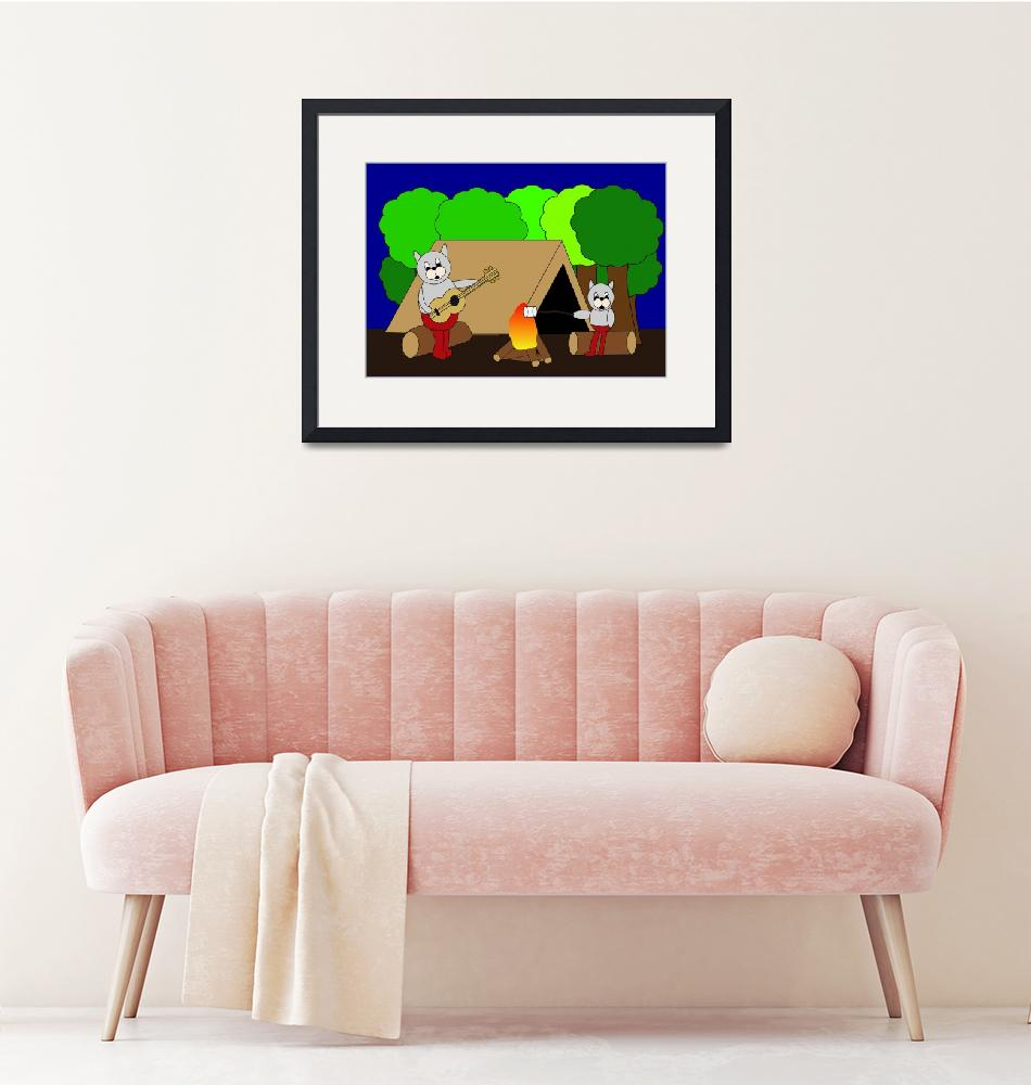 """""""Cats Camping""""  (2015) by ValeriesGallery"""