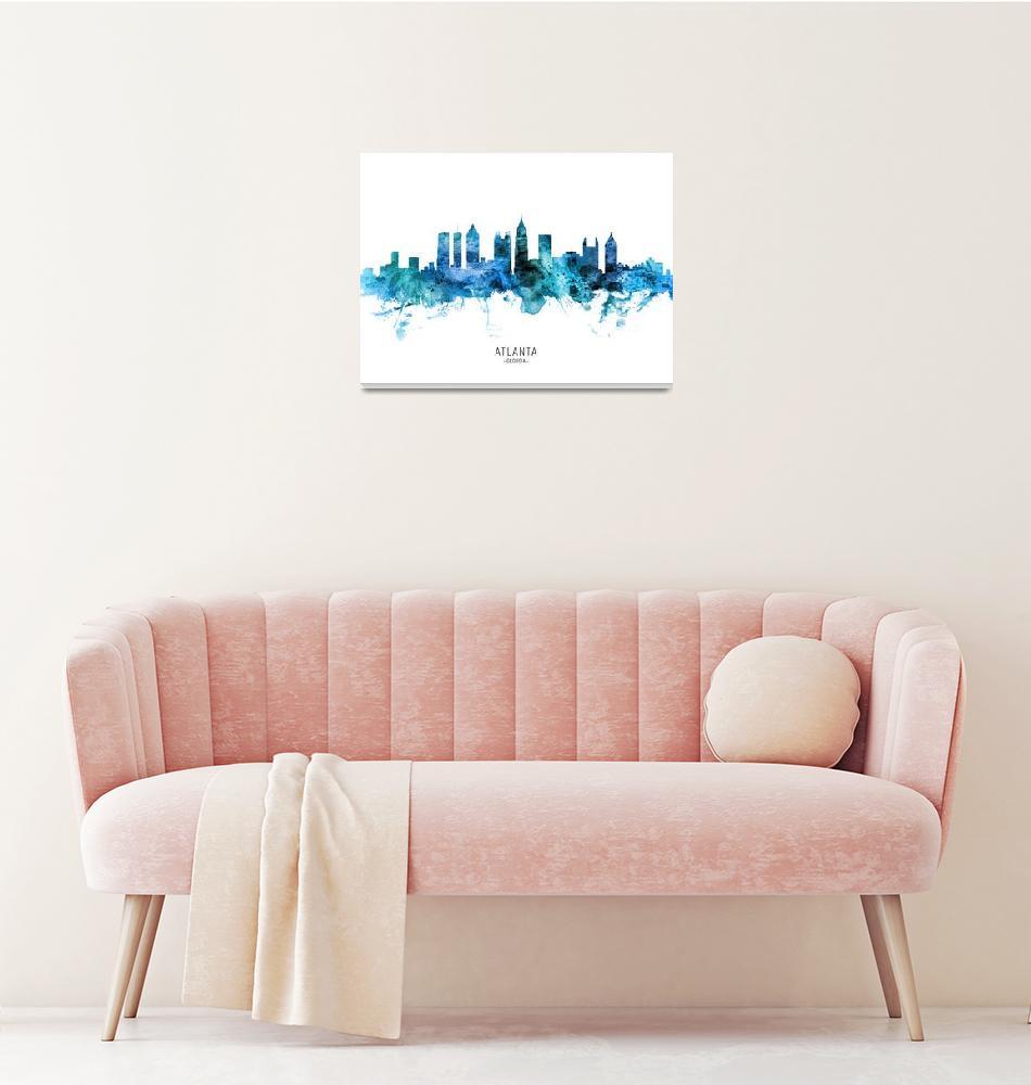 """""""Atlanta Georgia Skyline""""  (2020) by ModernArtPrints"""