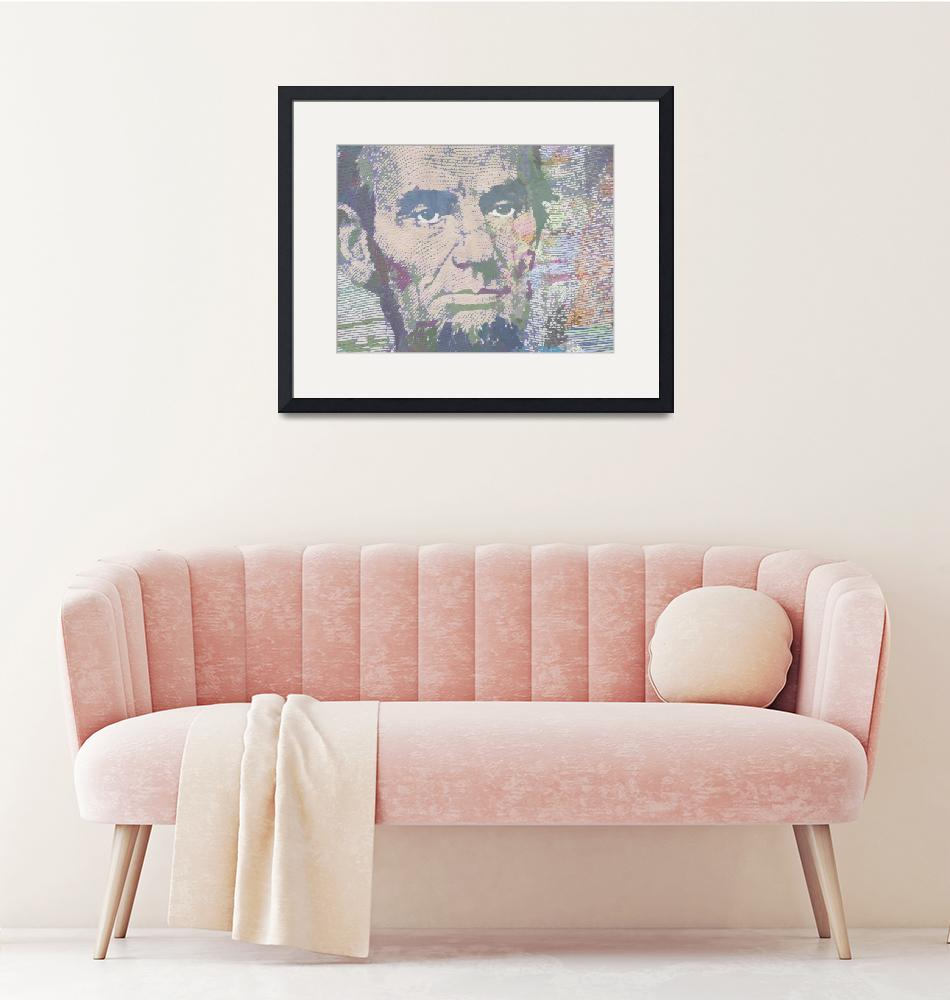 """""""Lincoln Reimagined Horizontal""""  (2014) by RubinoFineArt"""