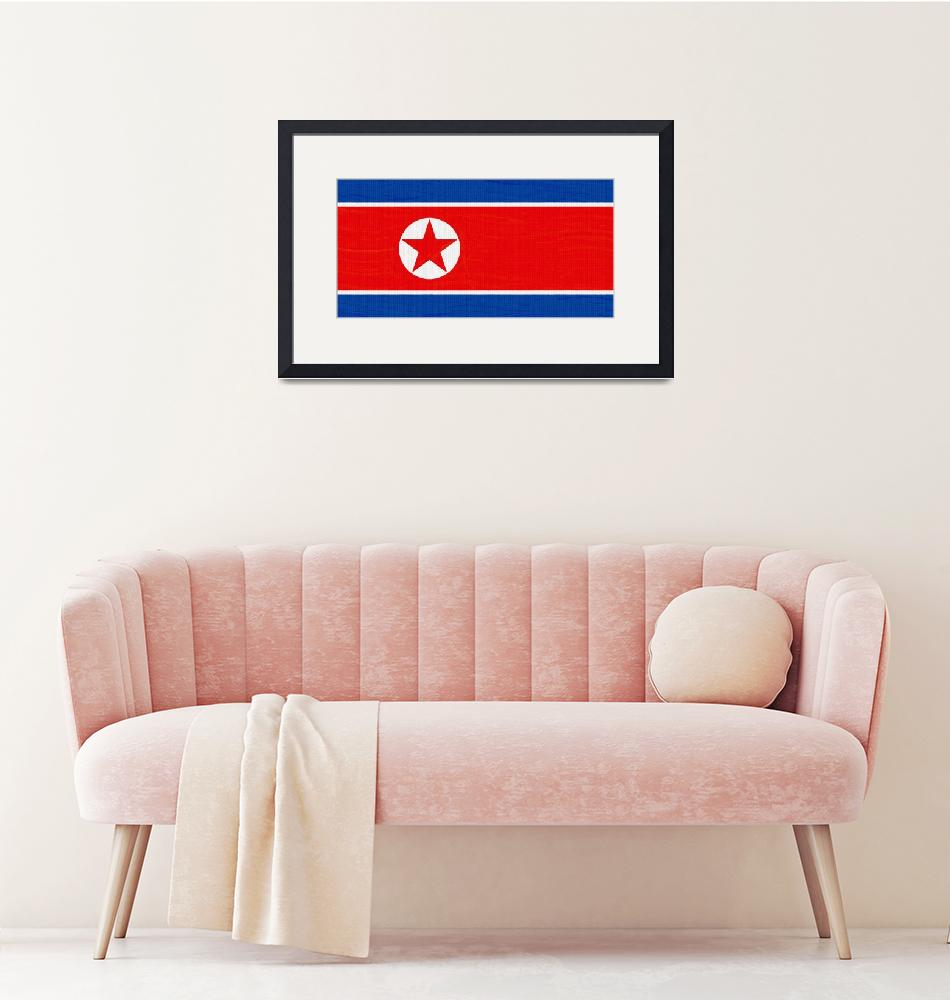 """""""Flag of North Korea ,  County Flag Painting ca 202""""  by motionage"""
