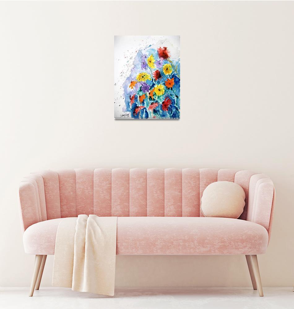 """flower yupo painting""  (2008) by derekmccrea"