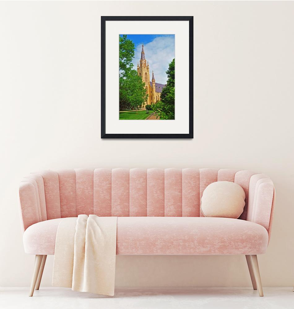 """""""Basilica of the Sacred Heart Notre Dame University""""  (2009) by lwoodburn"""
