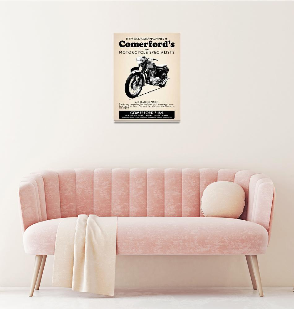 """The Comerfords Vintage Advert""  by mark-rogan"