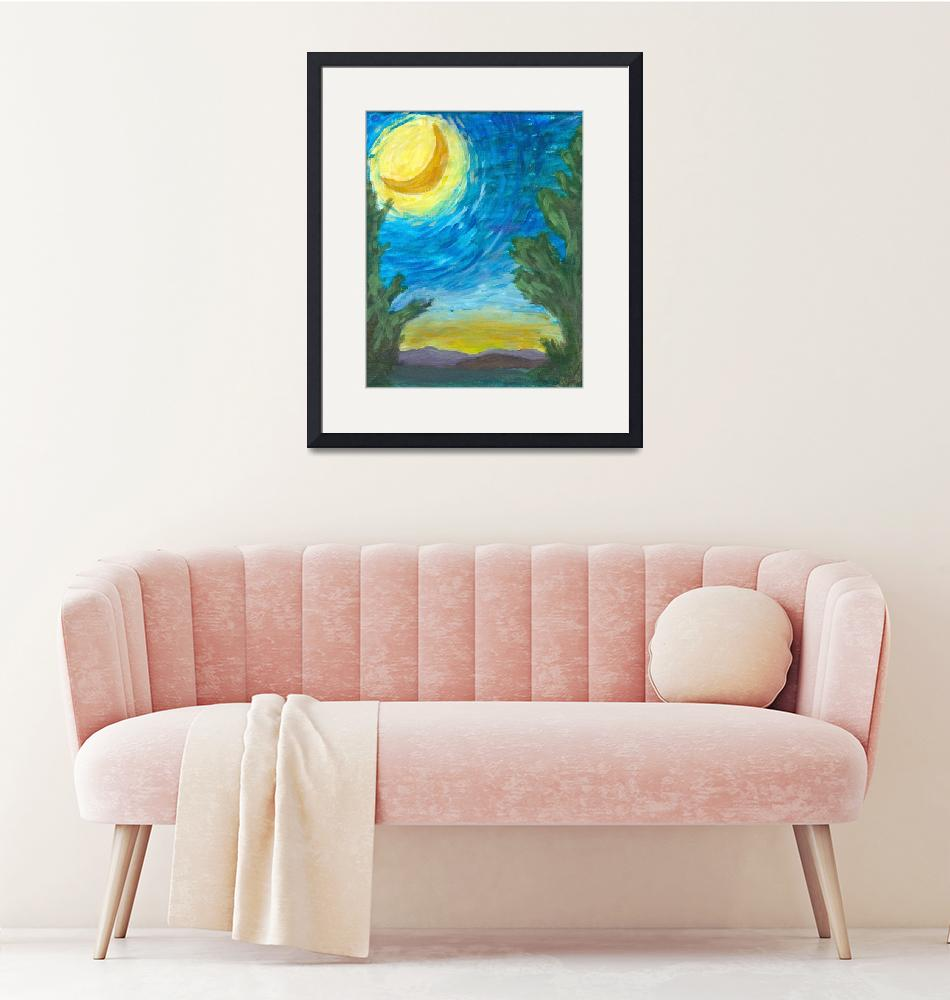 """""""Moon Over Sunset""""  (2012) by Artpixie"""