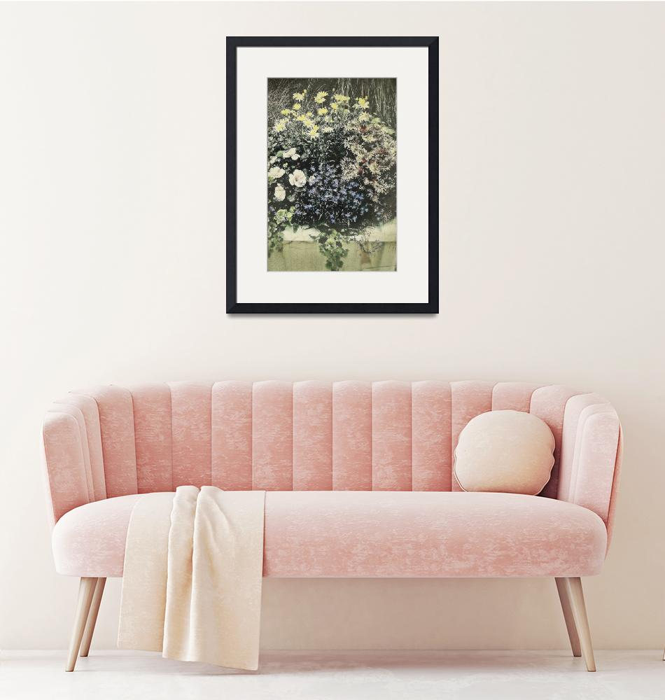 """""""Floral Planter in Vintage Style"""" by MotherNature1"""