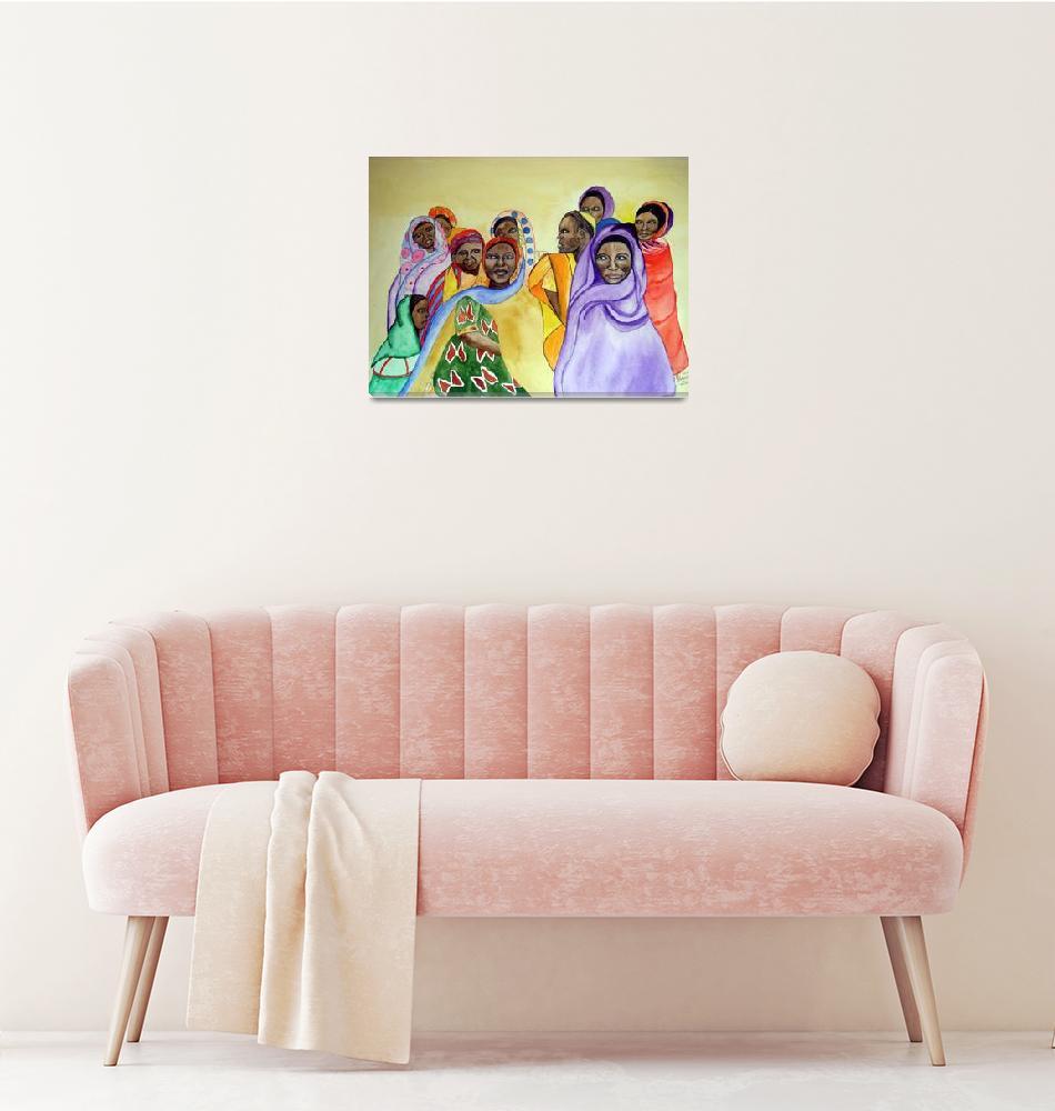 """Women of Sudan""  by Christella"