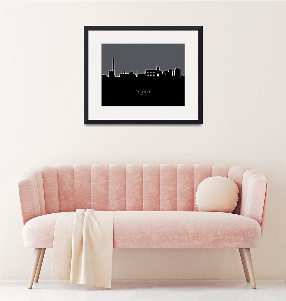 """Carlisle England Skyline"" (2019) by ModernArtPrints"