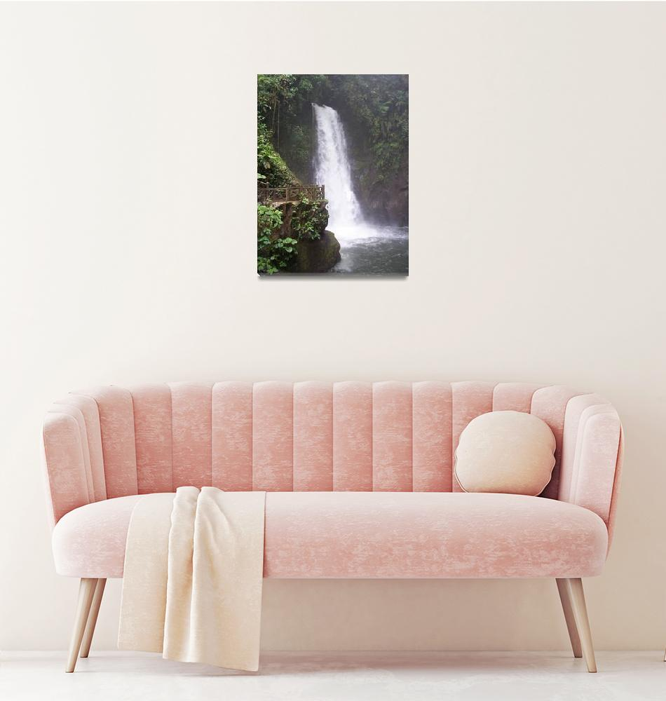 """Rain Forest Waterfall""  (2007) by TIMEKEEPER"