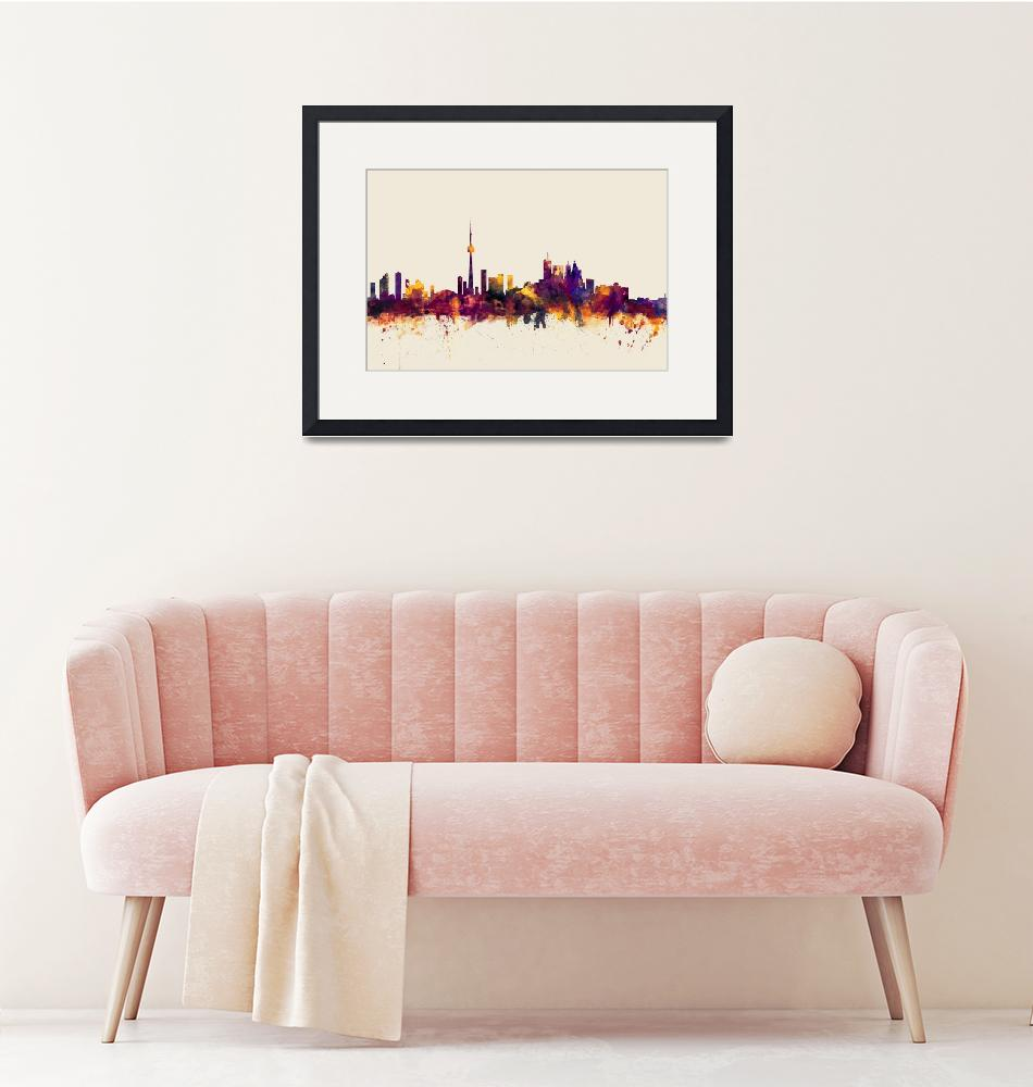 """Toronto Canada Skyline""  (2014) by ModernArtPrints"