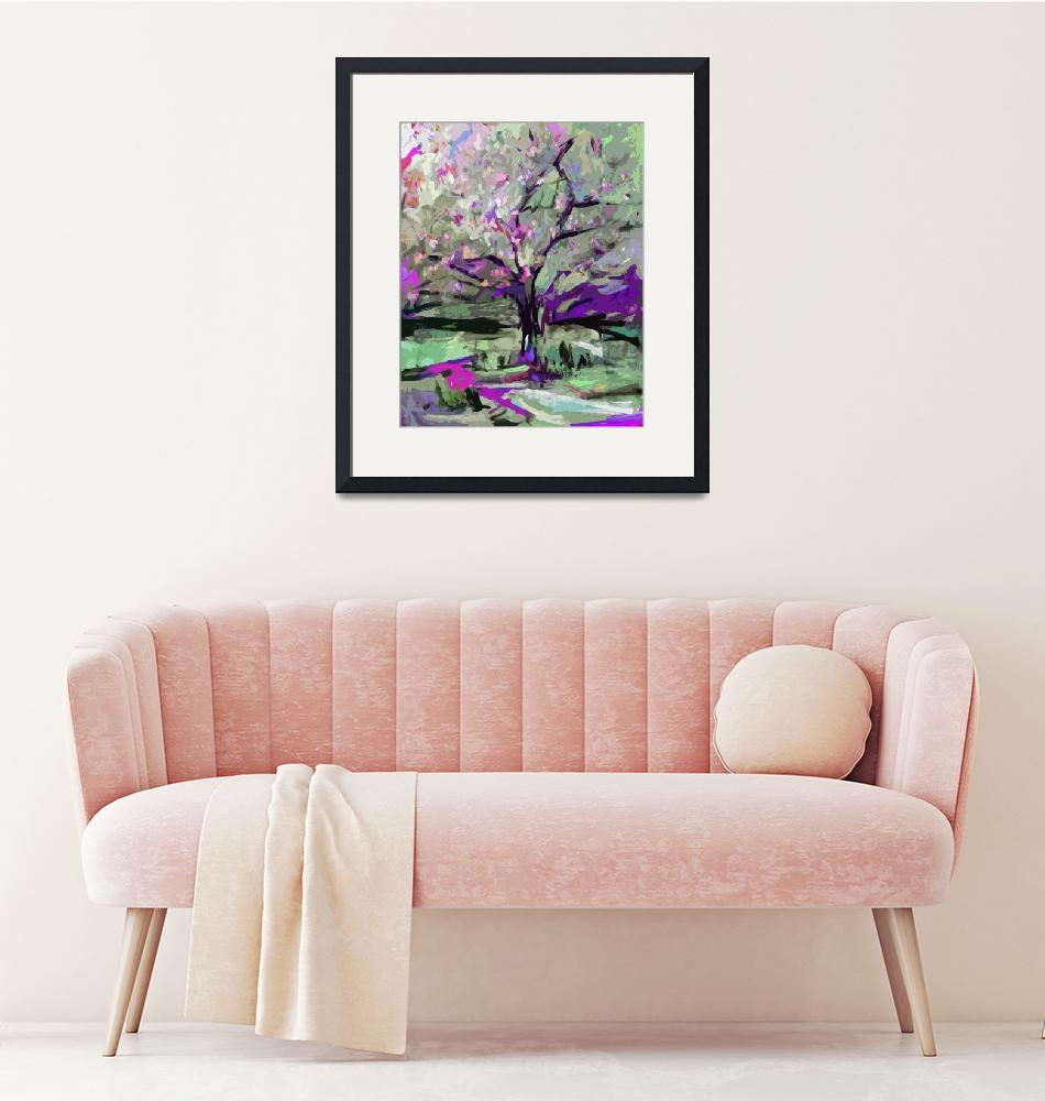 """""""Abstract Art Tree in Bloom by Ginette""""  (2012) by GinetteCallaway"""