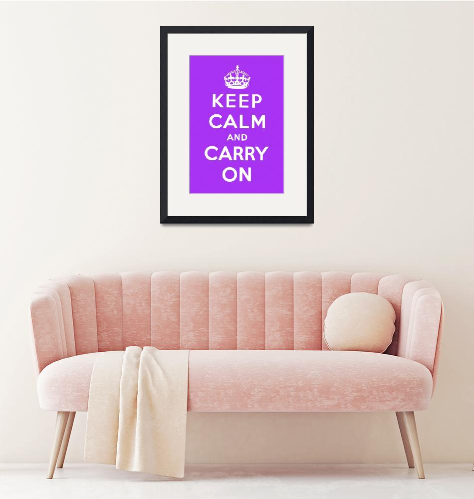 """Purple Keep Calm And Carry On 5""  by oldies"