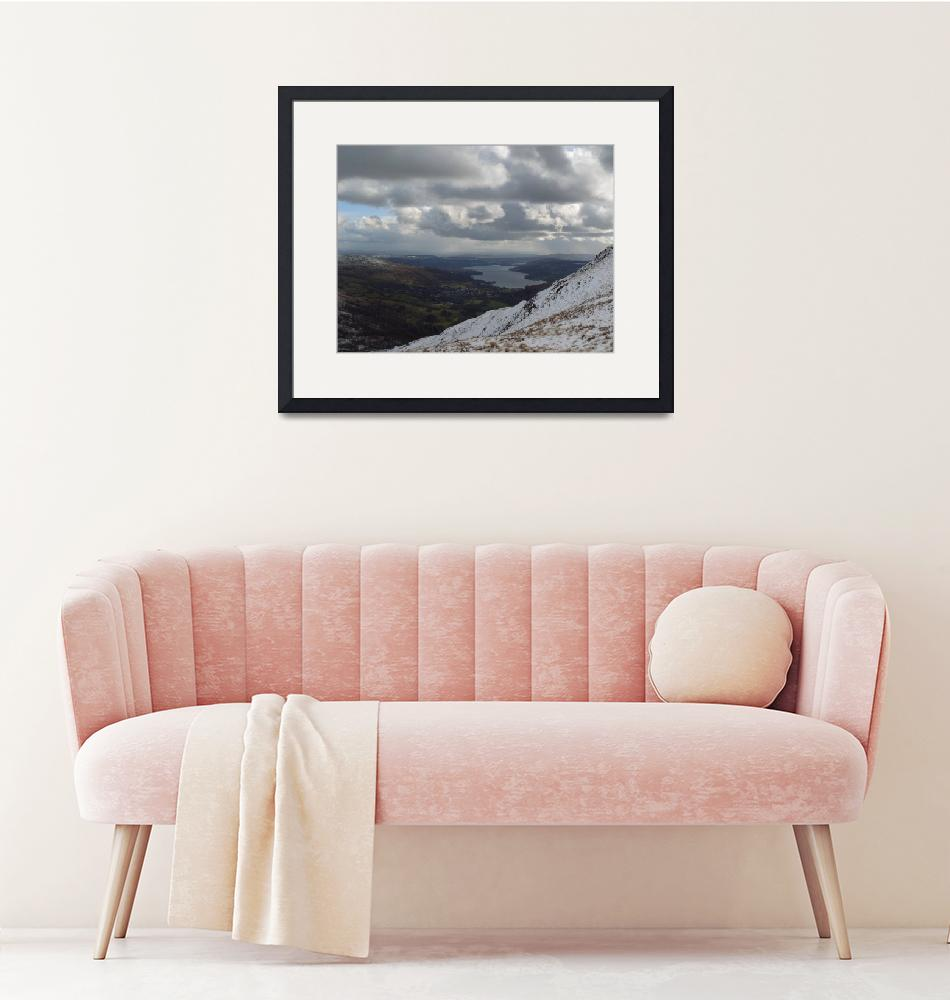 """""""Storm clouds over Windermere""""  (2007) by scenicenglandandwales"""