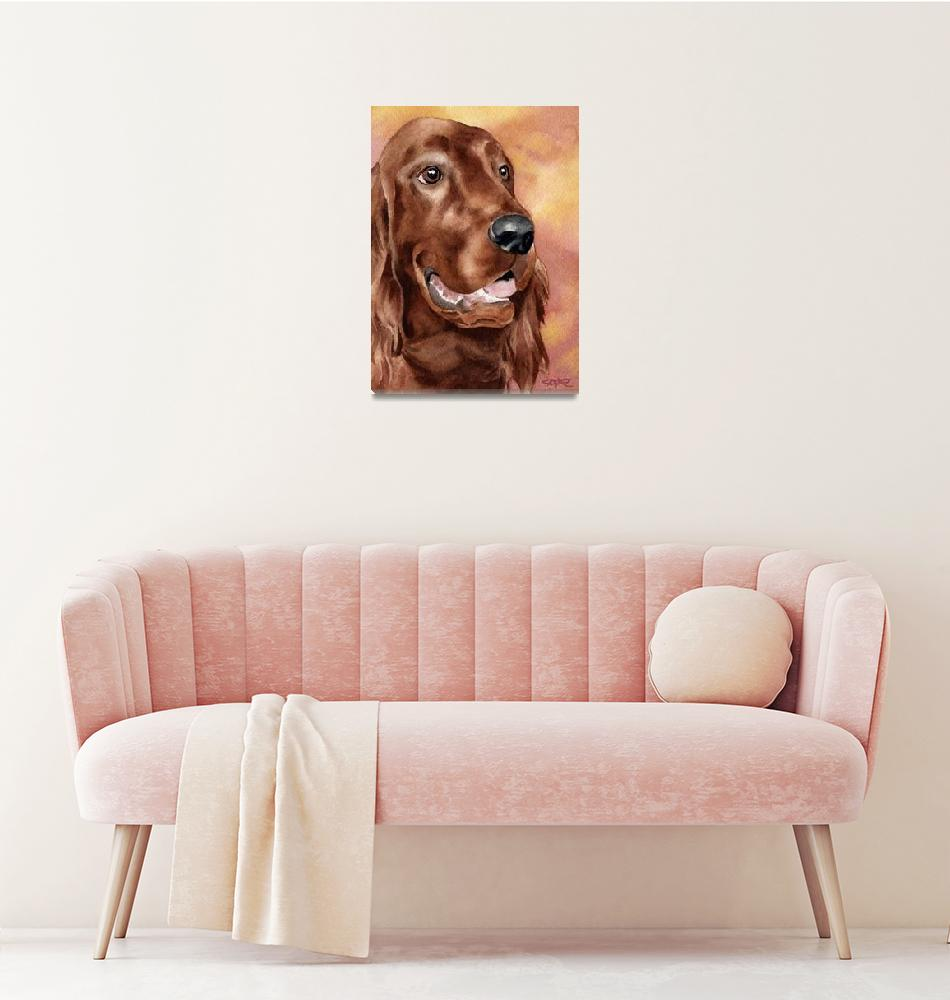 """Irish Setter""  (2015) by k9artgallery"