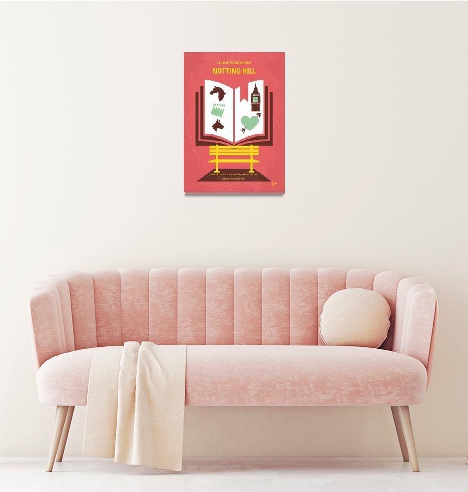 """No434 My Notting Hill minimal movie poster""  by Chungkong"