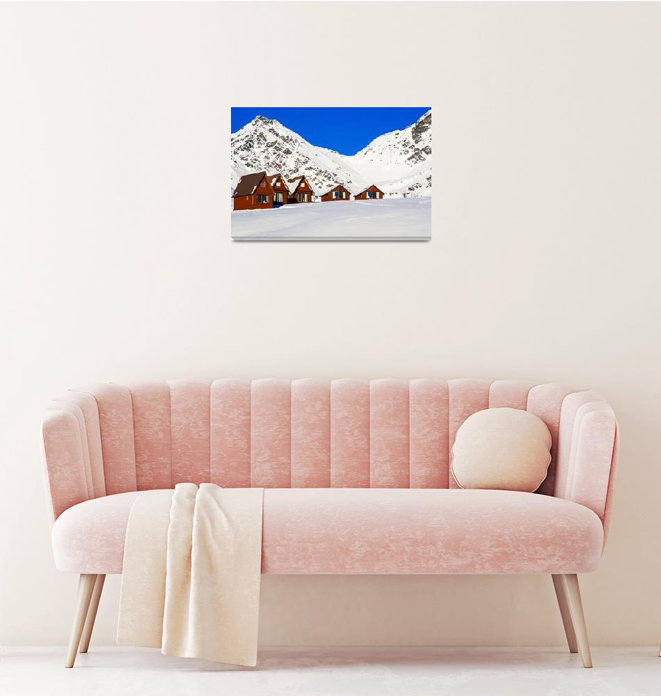 """Ski Cabins""  (2015) by StaciErickson"