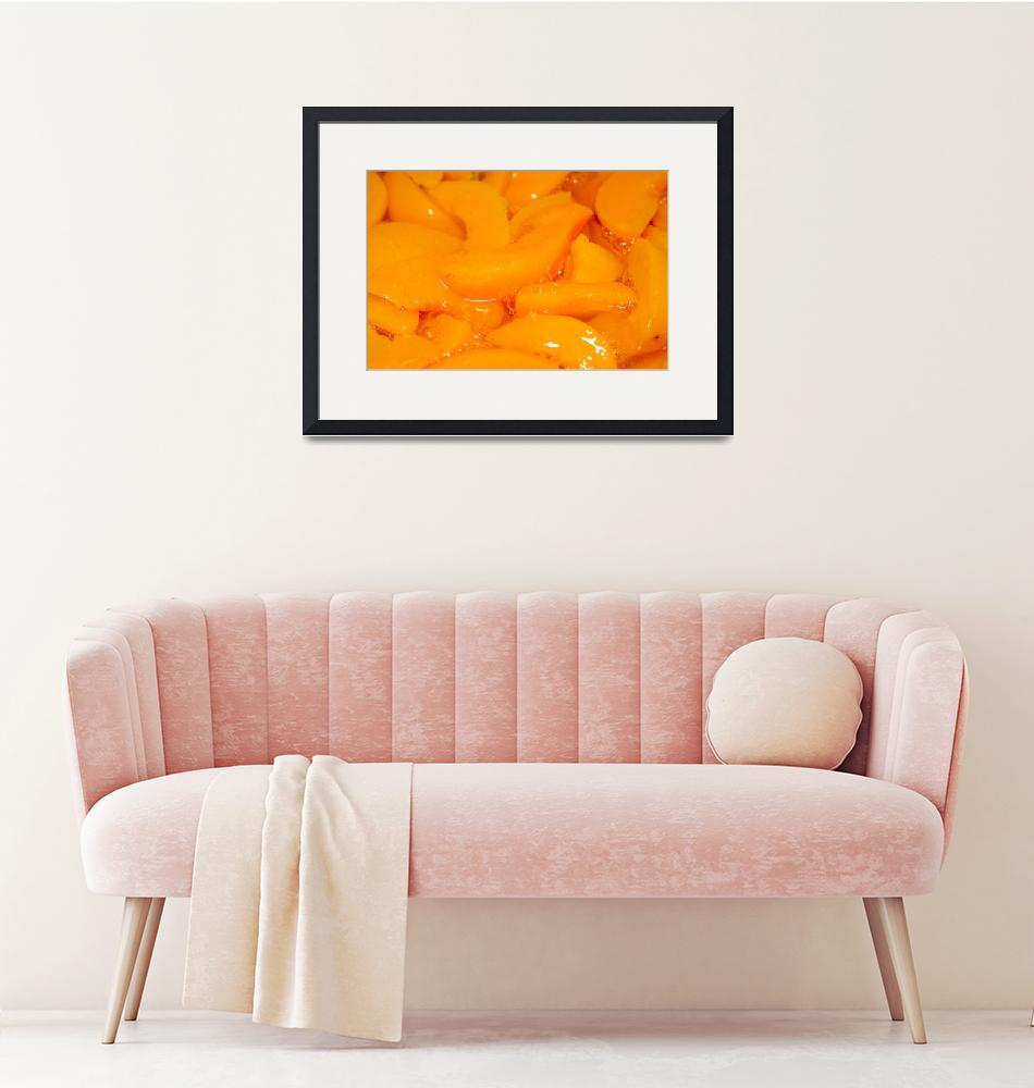 """""""sliced peaches on table"""" by digidreamgrafix"""