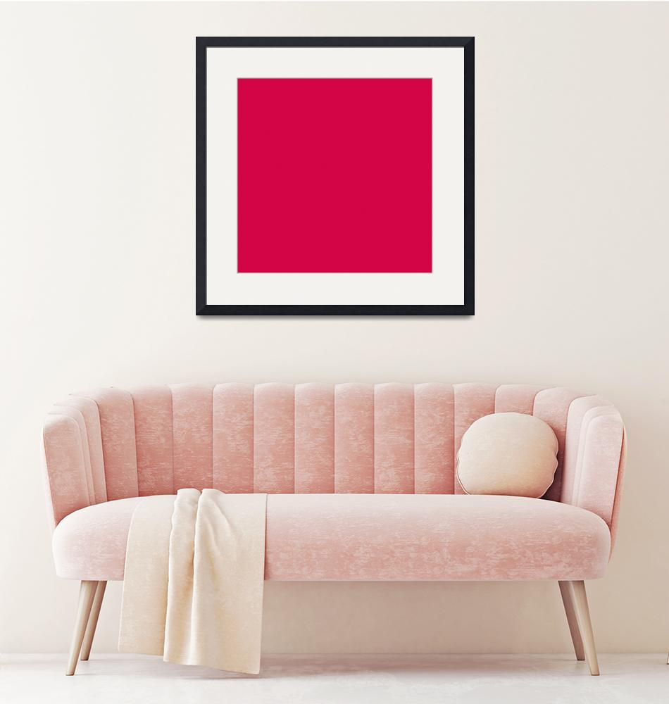 """""""Square PMS-206 HEX-D30547 Red Pink Magenta""""  (2010) by Ricardos"""