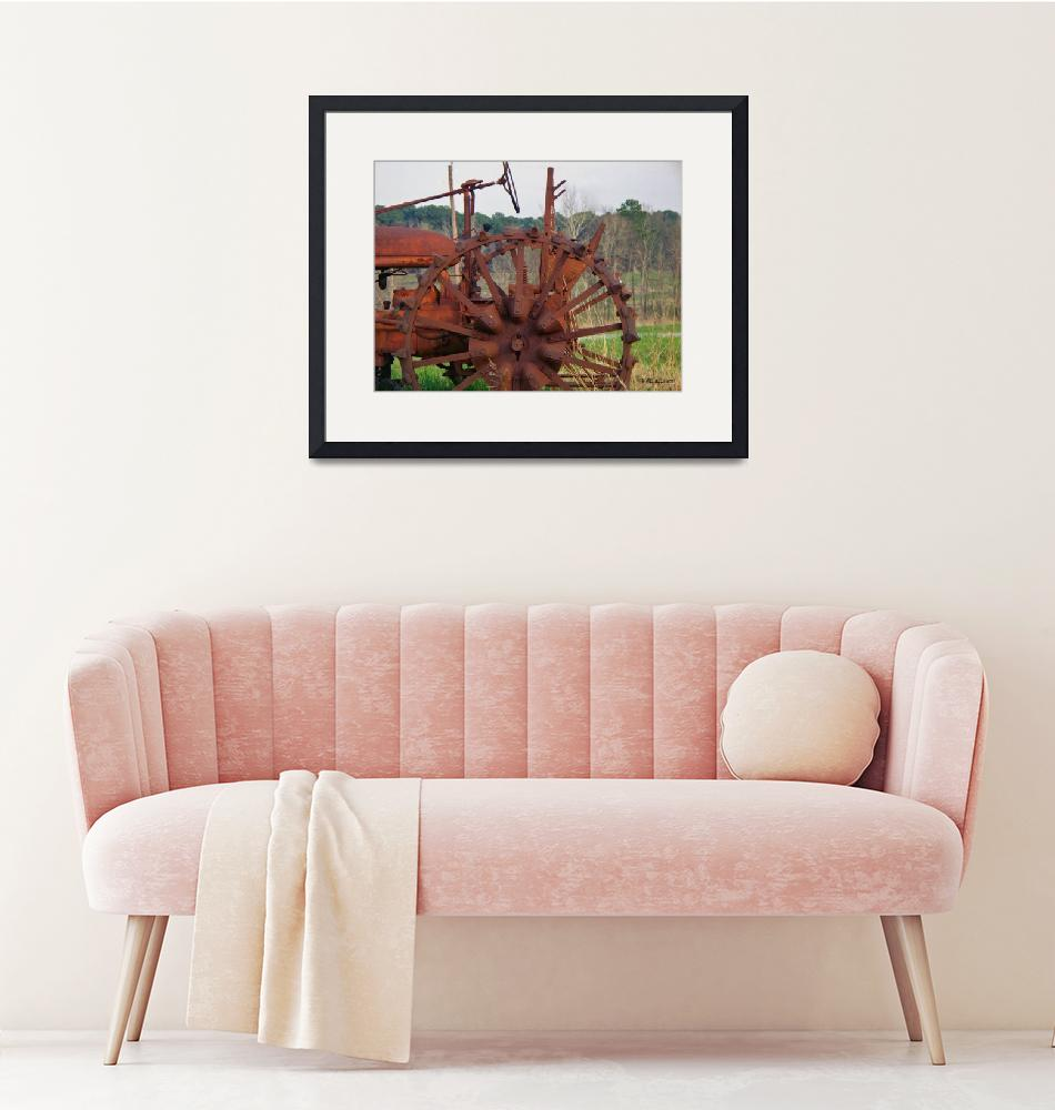 """""""Antique Tractor""""  (2011) by bettynorthcutt"""