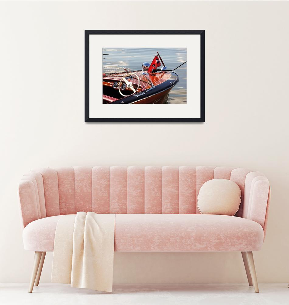 """""""Chris Craft Deluxe Runabout"""" (2013) by ntzautomarinephoto"""