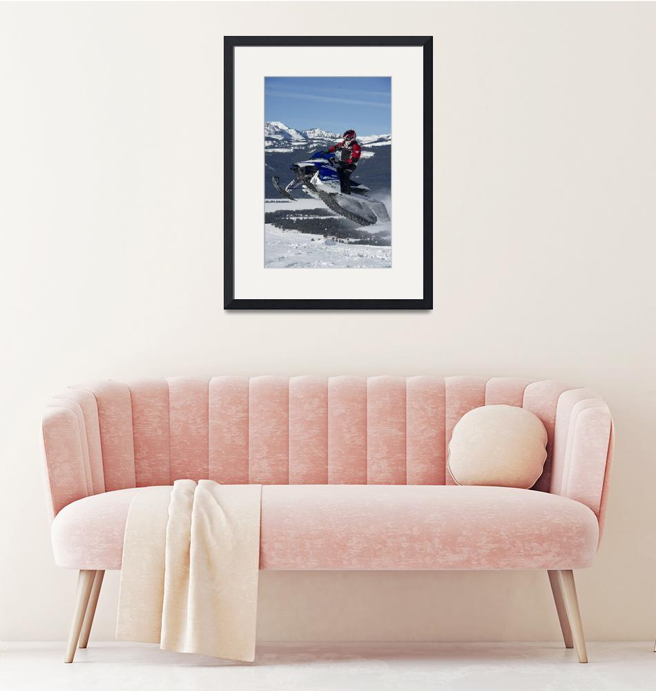 """Sky High Snowmobile""  by KalmbachPublishing"