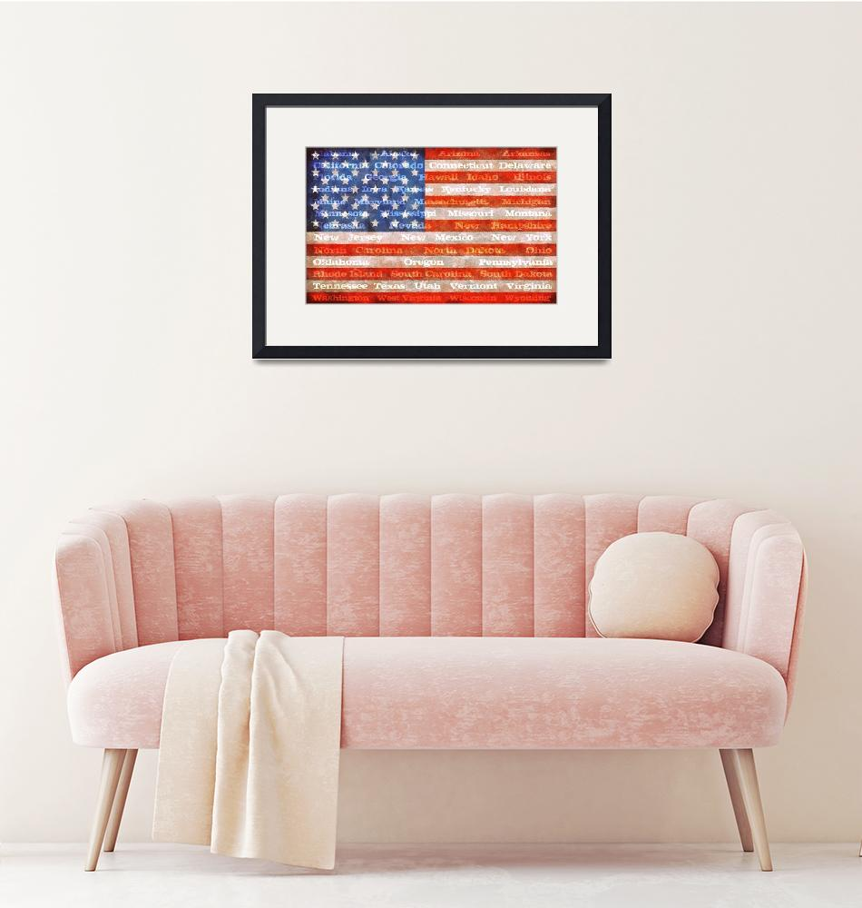 """""""American Flag with States""""  (2012) by Michelle1991"""
