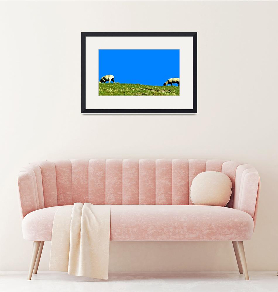 """TwoSheep-Cuckmere""  (2009) by sillyjohno"