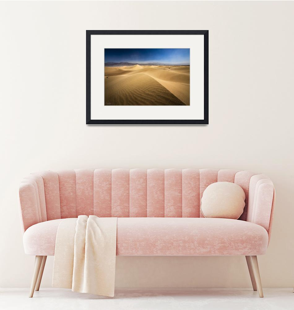 """Death Valley Sand Dunes in California by Cody York""  by cyorkphoto"