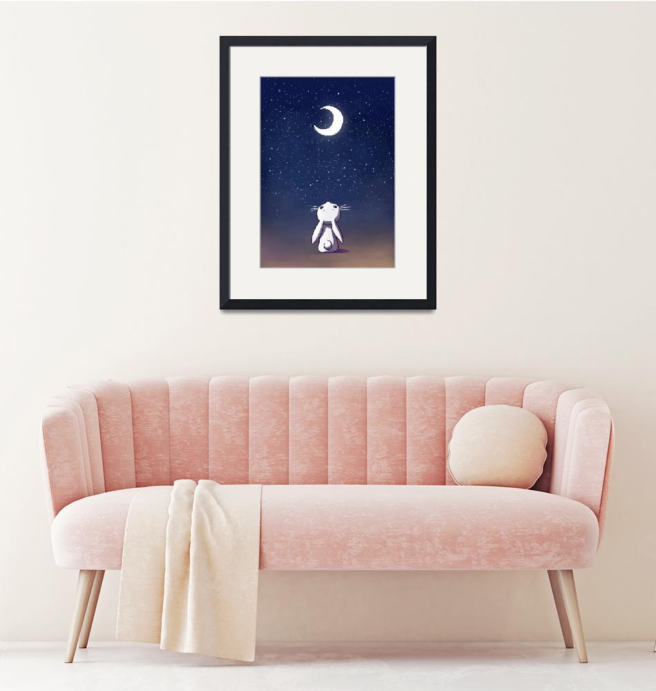 """""""Moon Bunny""""  (2013) by freeminds"""