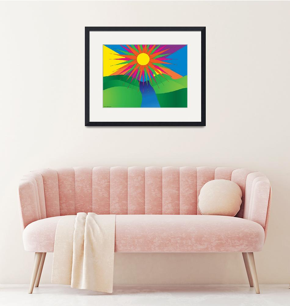 """""""Psychedelic Sun"""" (2009) by ValeriesGallery"""