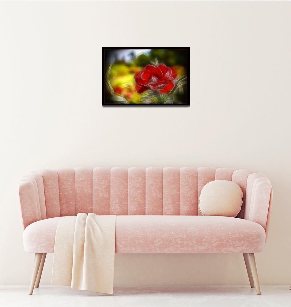 """Impressionistic Rose""  (2009) by palmsrick"