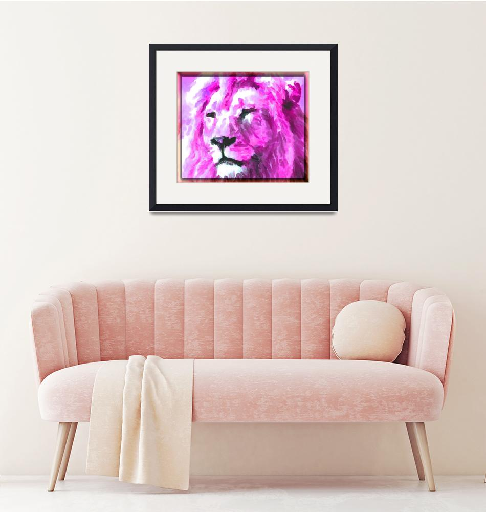 """Magenta Lion""  (2015) by KittyMisty"