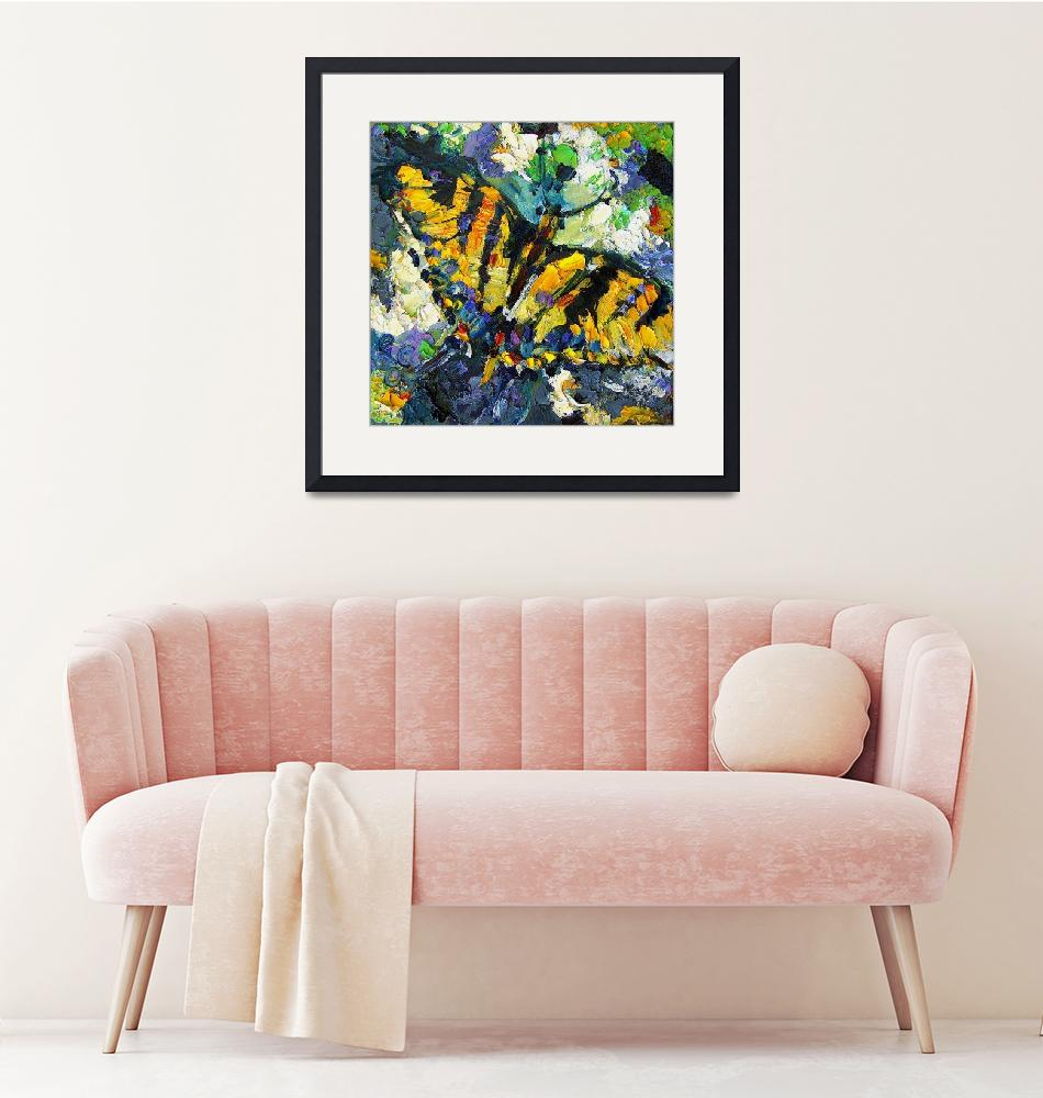 """""""Impressionist Swallowtail Butterfly""""  (2016) by GinetteCallaway"""