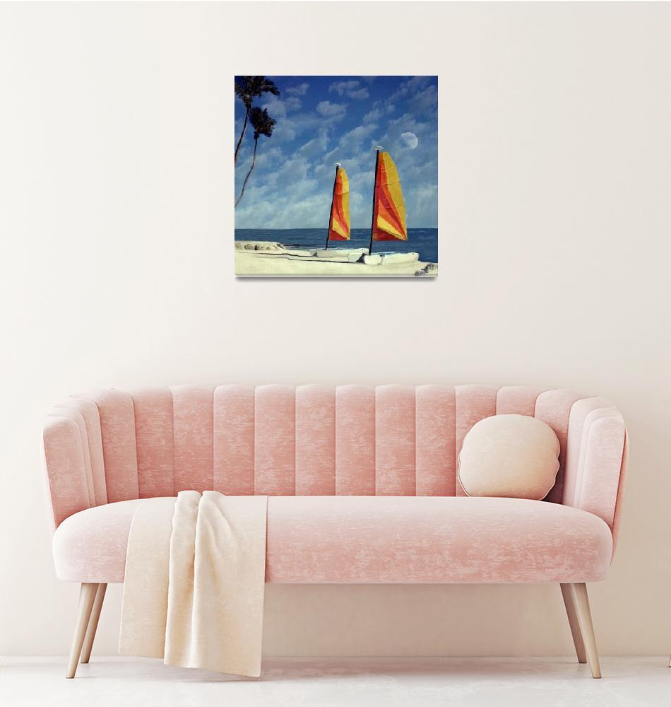 """Sail Boats Cheeca Lodge, Florida Kets""  (2004) by joegemignani"