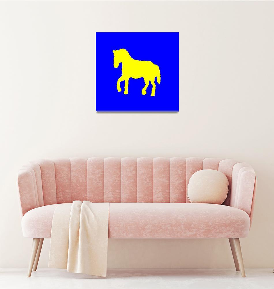 """yellow horse""  (2013) by elisosilva"