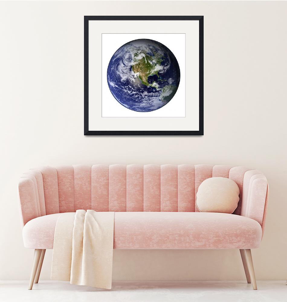 """""""Earth showing North America (white background).""""  by stocktrekimages"""