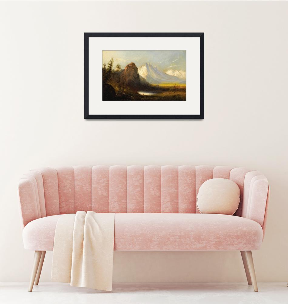 """""""Manner_of_Albert_Bierstadt_-_Cathedral_Rock""""  by motionage"""