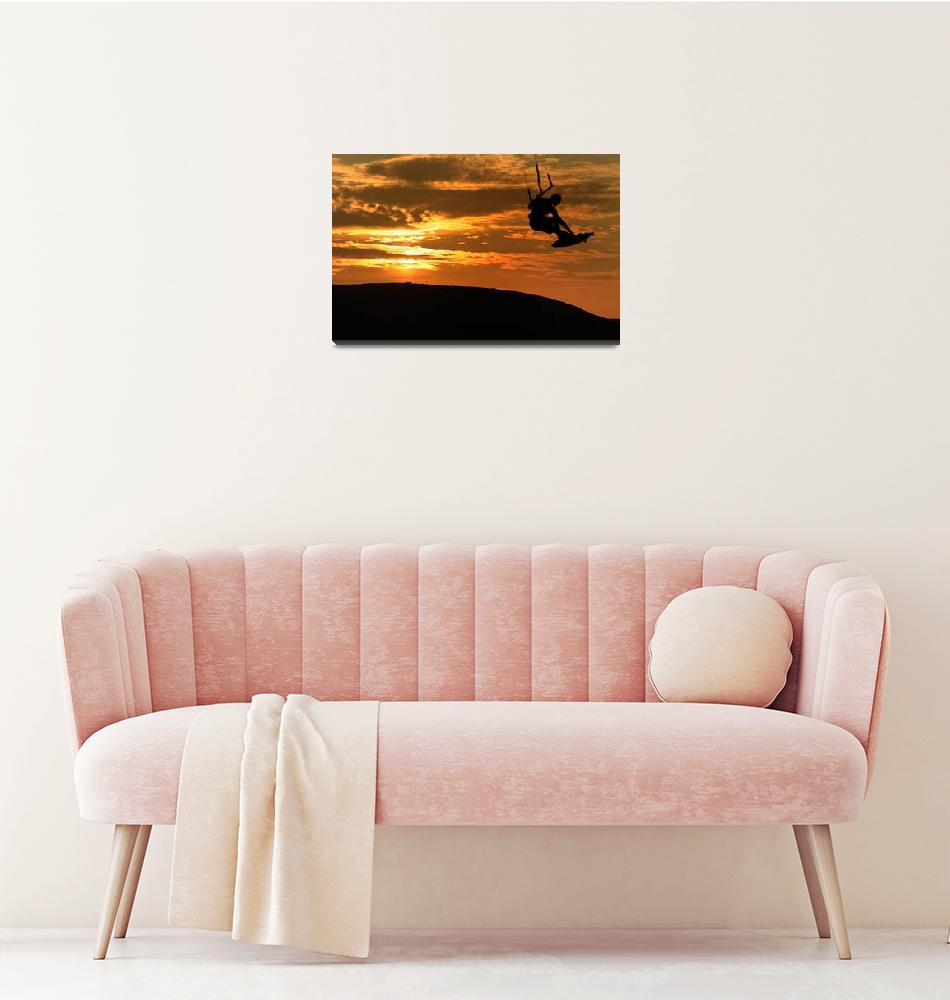 """Kristine Boese - Sunset Kite Surf""  (2009) by JessicaShellPhotography"