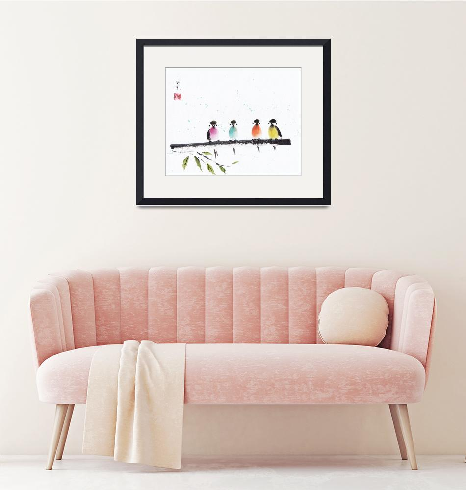 """""""Colorful Family"""" (2017) by oystudio"""
