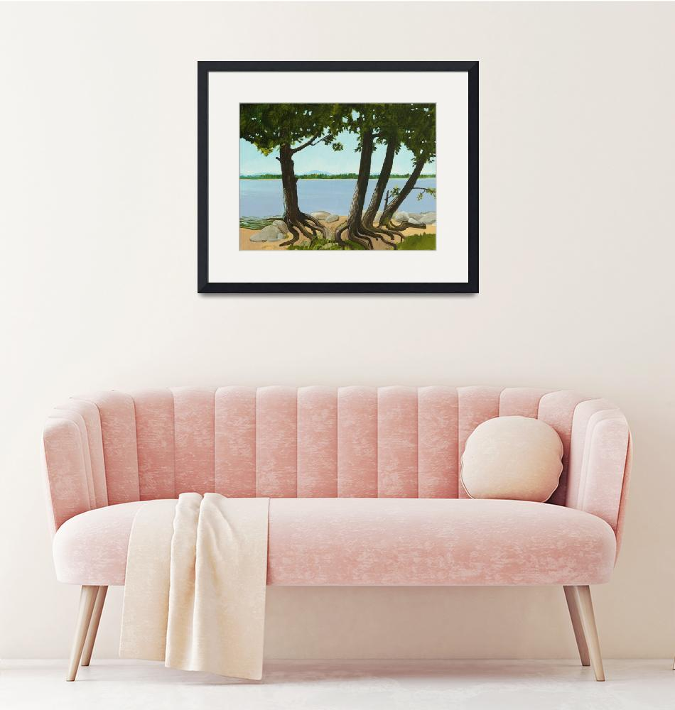 """""""Trees by the Shore""""  (2013) by azo"""