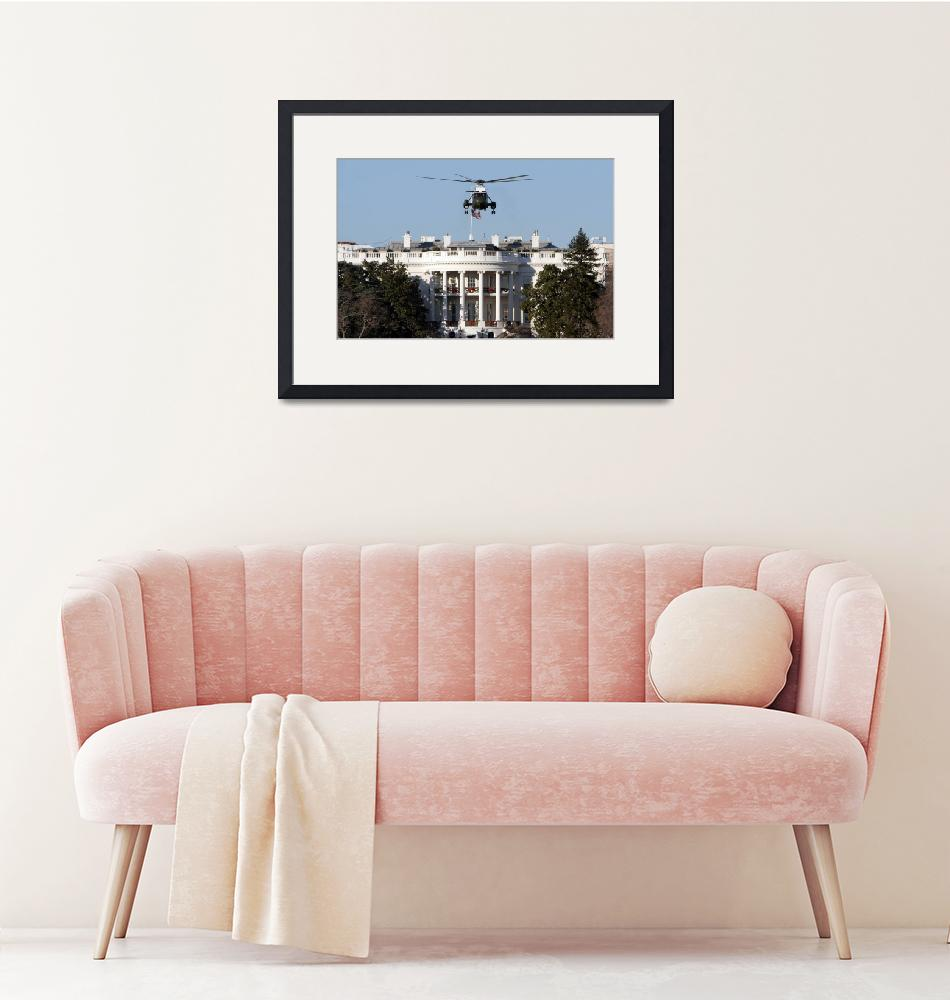 """white house with Marine one washington dc""  (2006) by dcphoto"