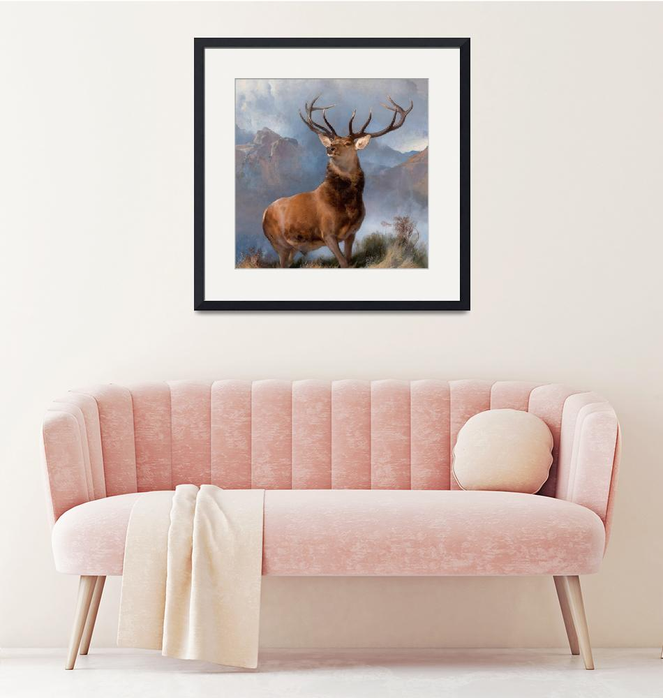 """""""Edwin Landseer~The Monarch of the Glen""""  by Old_master"""