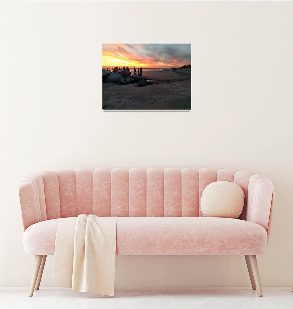 """Fort Moultrie Sunset""  (2018) by SherryKuhlkin"