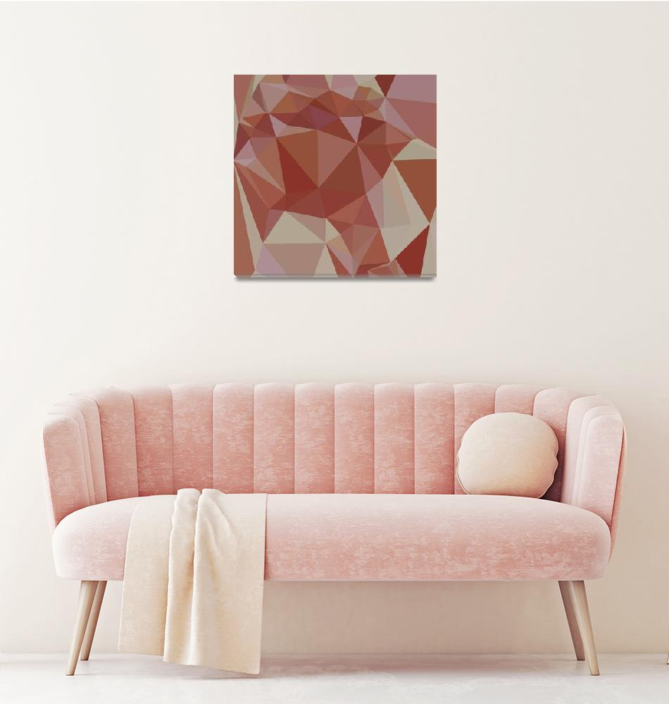 """Congo Pink Abstract Low Polygon Background""  (2015) by patrimonio"