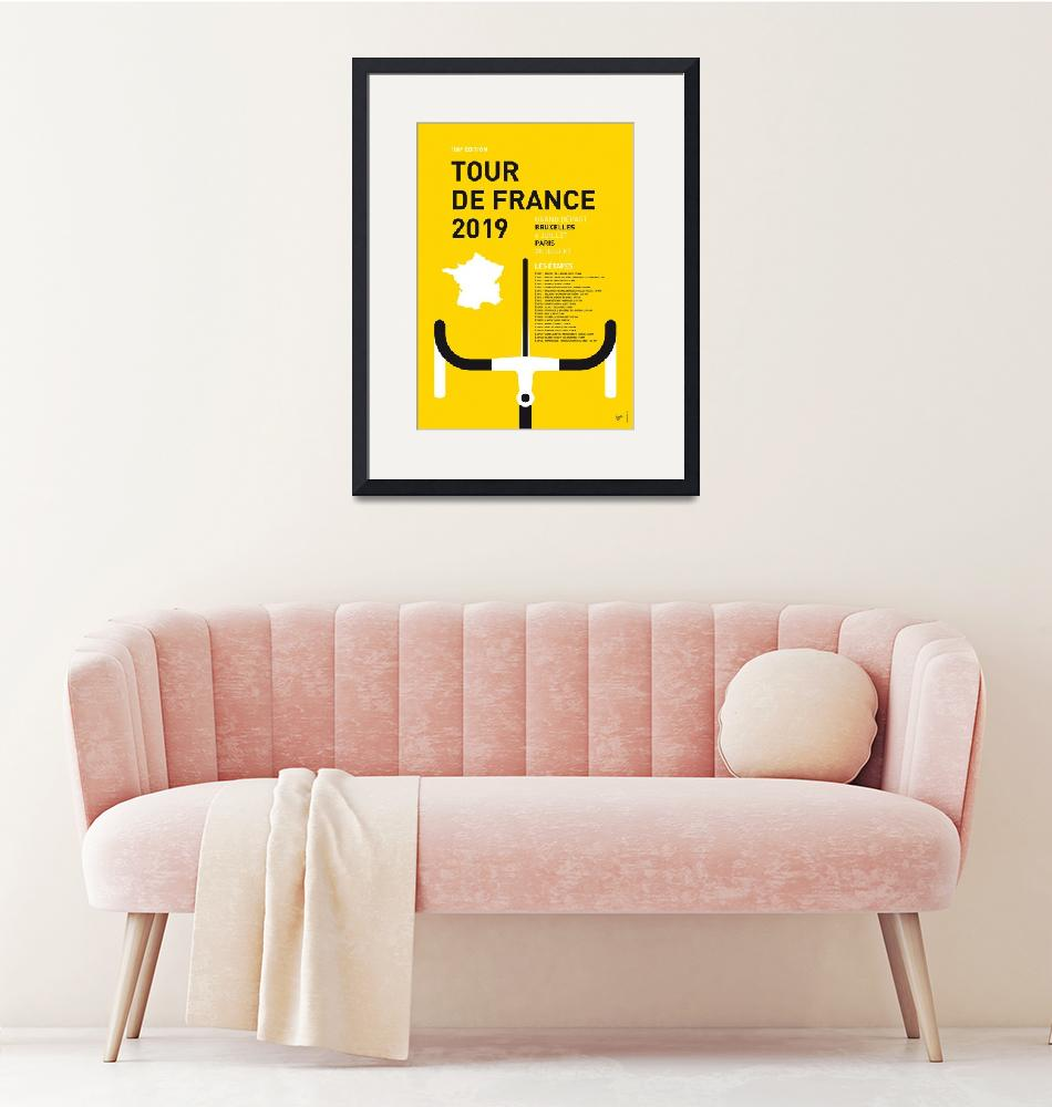 """""""MY TOUR DE FRANCE MINIMAL POSTER 2019"""" by Chungkong"""