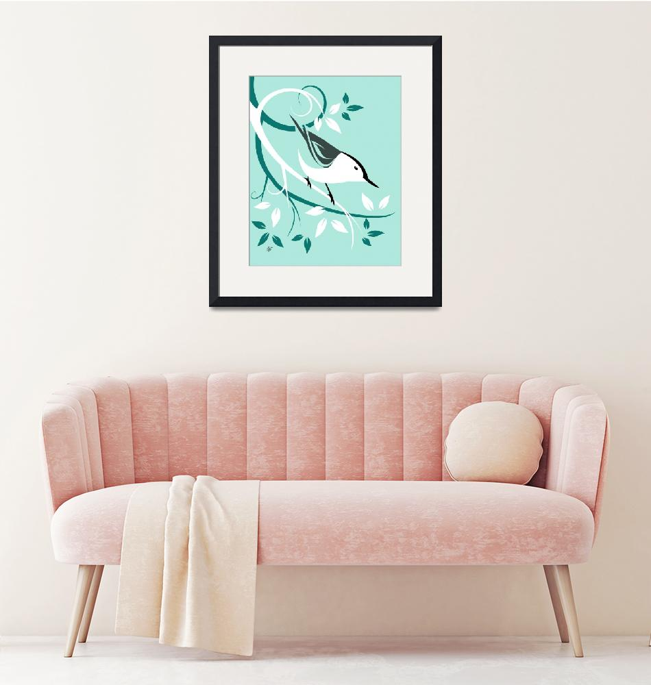 """""""White Breasted Nuthatch""""  by waterart"""